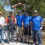 Cole gunsmithing team at Shoot Down Kids Cancer, 2018