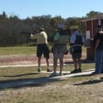 A group of skeet shooters on Field 4