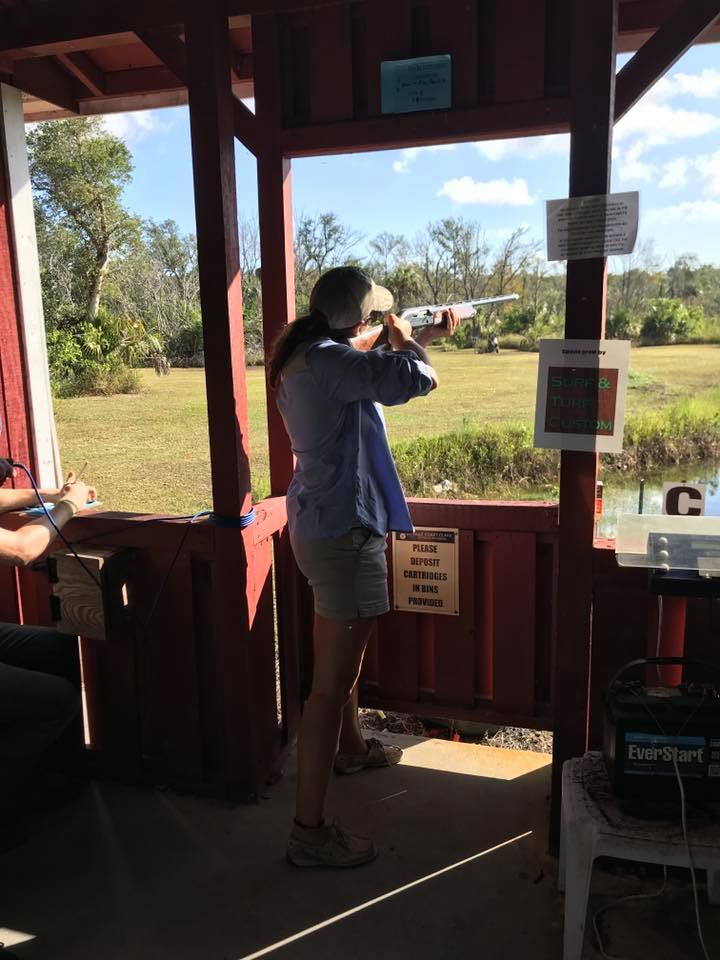 Lady shooter at Ducks Unlimited event