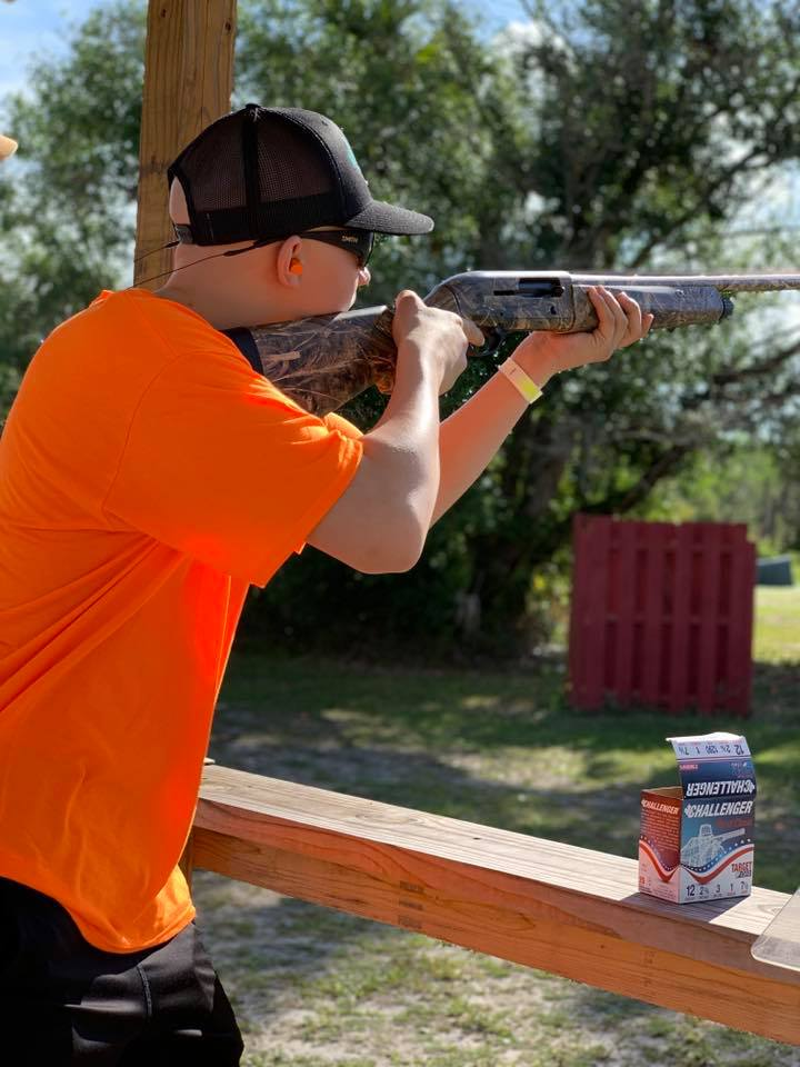 Chase Martinez at Shoot Down Kids Cancer 2019