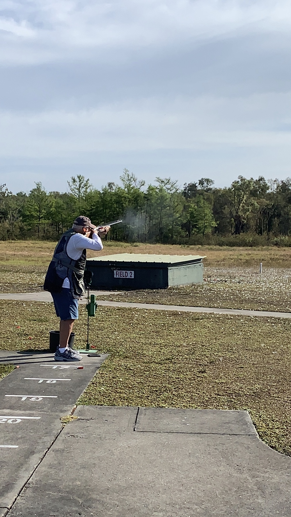 A trap shooter at Members' party 2020 at GCC