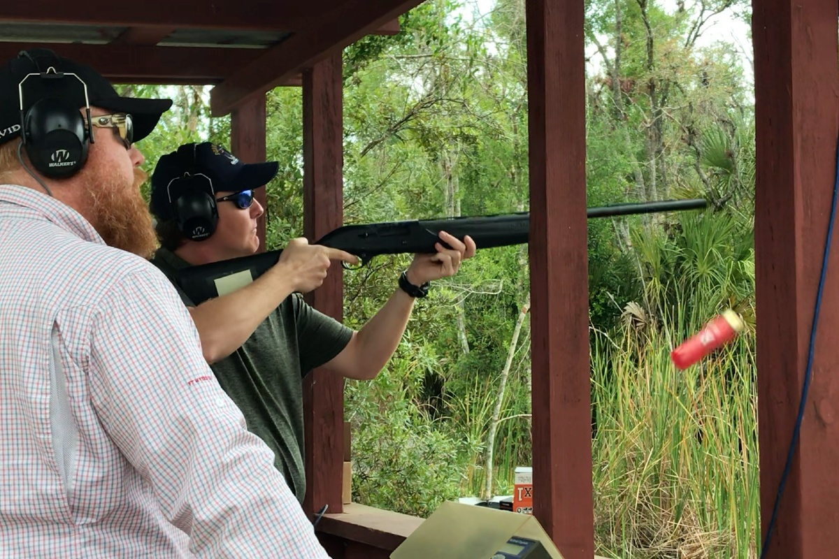 man on sporting clays course