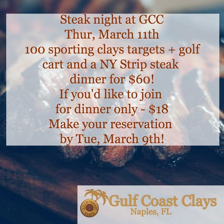 steak night at GCC details